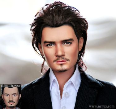 17-inch Orlando Bloom custom doll repaint by noeling