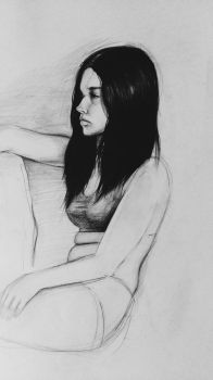 drawing of a model by beth223
