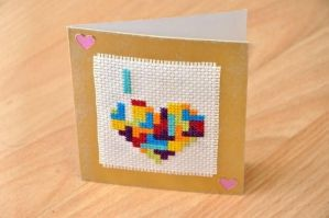 Tetris Heart by VickitoriaEmbroidery