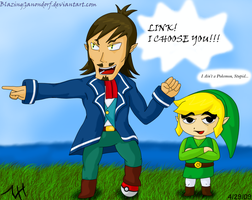 Art Trade - Link I Choose You by BlazingGanondorf