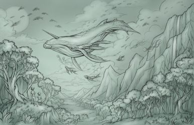 The Great Sky Whale by Evanira