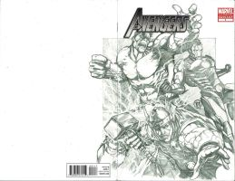 Avengers Sketch cover by Ace-Continuado