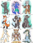 RMFC 2013- Watercolor Chibis by CanineHybrid