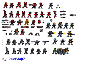 Halo Reach Sprite Sheet Update by DaveJay7