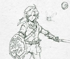 Sketch #002 - Link by tsunami-dono