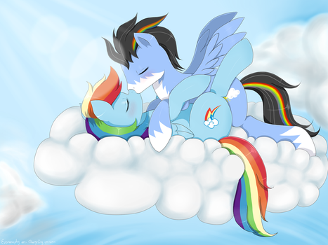 :com: Love on the Clouds by Evomanaphy