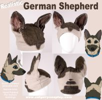 Realistic German Shepherd Hat by KayPikeFashion