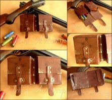 Steampunk Double Ammo Pouch by izasartshop