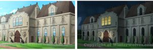 Estate Entrance day and night wtr by ferryo