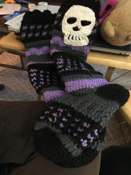 Crochet Socks for Sale/Commission! by deathlover2006