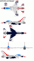 USAF Thunderbirds F-16 by bagera3005