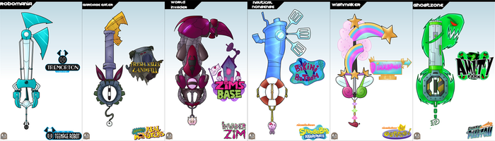 Keyblade Cards - Nickelodeon Set 1 by IronClark