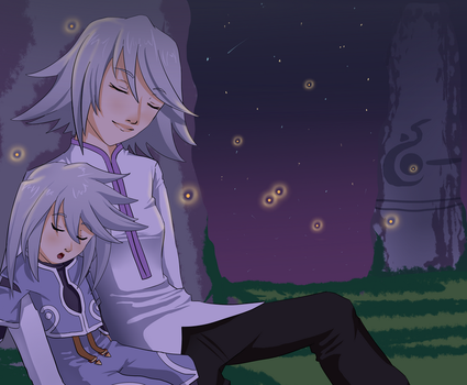 Raine and Genis -- Symphonia's 10th Anniversary by azazel-teophyr