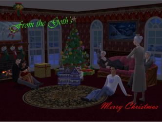 Goth Family Christmas by LeeseyBoy