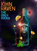 John Raven Vodka Bottle Dark by kapurito
