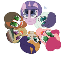 Mane 6 next generation by blurryface213