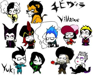 mini villains by y-yuki