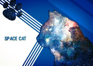 Space cat by Ozellius