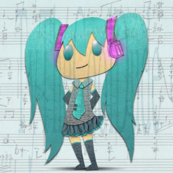 Digital Cut Out Miku by tythecooldude06