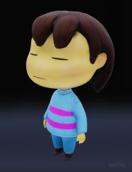 Frisk 3D by pearlzu