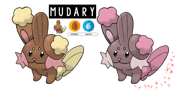 Pokemon Fusion Photoshop~Mudary~ by Xbox-DS-Gameboy