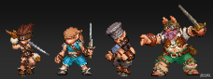 414 Pixel Tantalus Troupe by Hozure