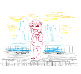 City Girl in lines by Darl-Stream