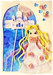 Princess Serenity Paper Cutting by Artistically-DE