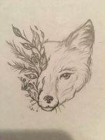 Fox within nature  by JadeDrawss