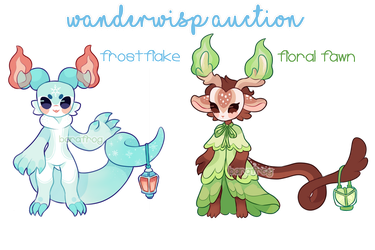 [WANDERWISPS] First Auction! 1/2 OPEN by barafrog