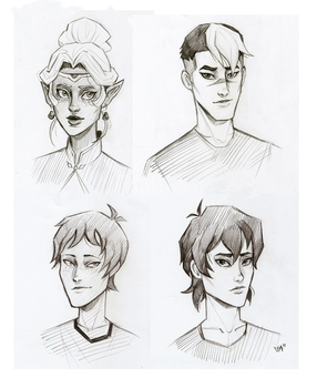 Voltron sketches by Kociepierogi