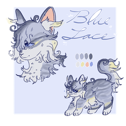 ( open ! ) adoptable | flatsale | blue lace agate by dropletss