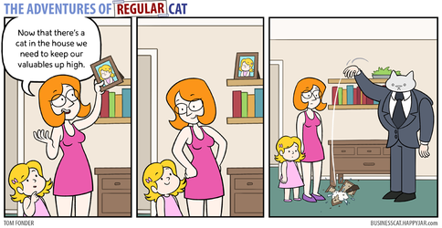 The Adventures of Regular Cat - Valuables by tomfonder