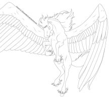 Free Pegasus Lineart by FlareAndIcicle