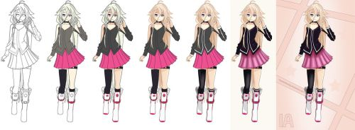 Vocaloid - IA Progress Image (Lineart available) by CaptainGhostly