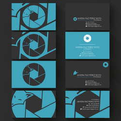 Business cards Javiera/Blue-Fox by magnaxeon