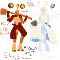 Fusion Gemsona Star Moonstone and Star SunStone ! by FaridCreator