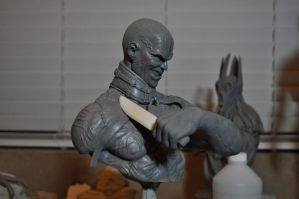 Victor Zsasz WIP Bust 3 by AntWatkins