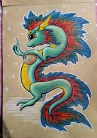 Chinese dragon by Azura-Roselion