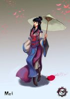 Kung Fu Romance: Wuxia - Mei by Bendragonx