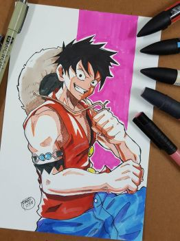 Day 254 Luffy by TomatoStyles