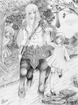 The Centaur and the Girl by anna-g