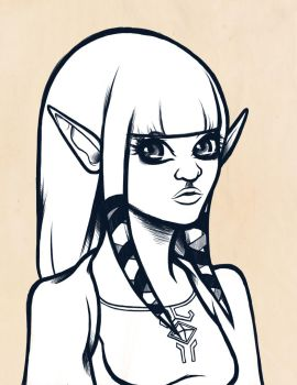 sketch: princess zelda by necromorphs
