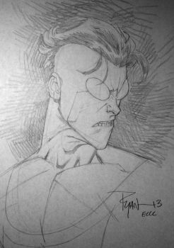 Invincible con sketch ECCC13 by RyanOttley