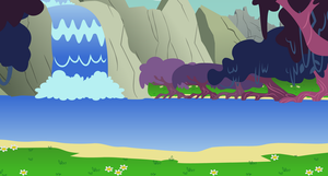 Lagoon Falls background by EvilFrenzy
