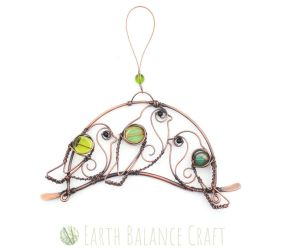 Birds on a Wire 1 by EarthBalanceCraft