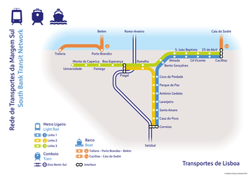 Lisbon South Bank Transit Network by fredericofrancisco