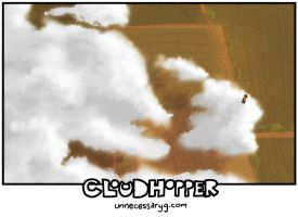 Cloudhopper art show page C by geoffsebesta