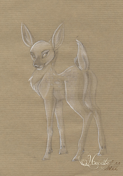 Animaltober 18 - Fawn by hecatehell