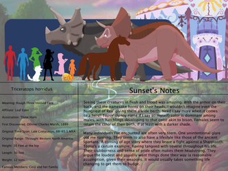 The Land Before Time Species Chart 2: Triceratops by jongoji245